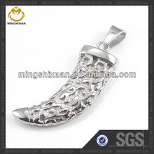 Popular Casting Shiny Male Horn Tibetan Mandala Pendant