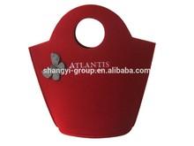 (SR-24)Fashion Ladies Butterfly Felt Tote Bag Shopping Bags