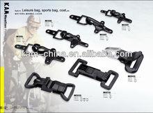Plastic strap rotation buckles