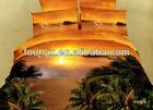scenery reactive dye printed home textile bedding set include comforter pillow case bed sheet kingsize queen size3D bedding set