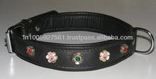 metal flower dog collar