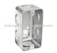 Hot sales 4X2 rectangular handy switch steel box drawn conduit box