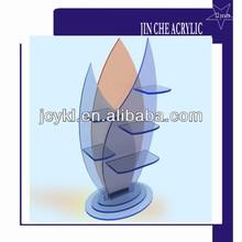 leaf shape acrylic skin care organizer