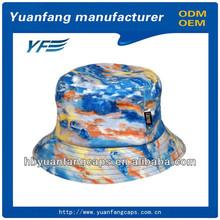custom print tie dyed flower bucket hat wholesale