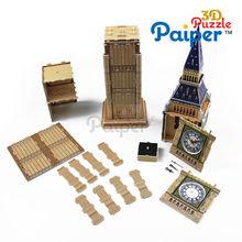 Paiper big ben souvenir 3d puzzle model included movement different types of clocks