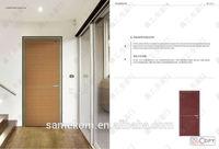 Modern Interior Bedroom Swing Wood Door