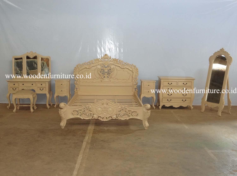로코코 침대 세트 골동품 복제 가구 프랑스어 지방 침대 룸 세트 ...