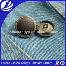 black fabric buttons, fabric cover buttons, fabric covered button supplies EH-283