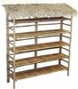 BF-13029 - Bamboo Storage - Bamboo Portable Retail Wall Display Merchandise Gift Shelf