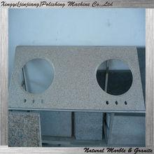 Rusty granite double bathroom sink countertop