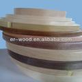 Chapa de madera de las bandas de borde para muebles/decoración