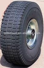 Small Pu foam wheels 10*3.50-4 flat free rubber wheel