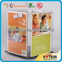 customized 4-side acrylic rotating card holder