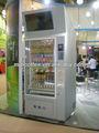 Clásico caliente de la venta de aperitivos& bebida fría& máquinas expendedoras de alimentos con gran pantalla lcd para el uso de la estación de metro lugar público lv-205l-610