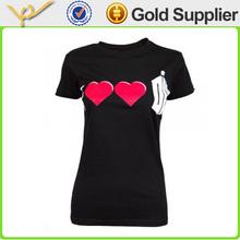 Promotional slim fit black plus size women t shirts