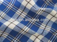 Yarn dyed twill 100% cotton flannel fabric uk