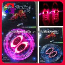 HOT SALE!!! colorful led shoelace with any color flashing led shoelace