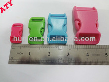 DongGuan manufacture flat plastic inserted buckle for bags/backpacks/pet collars
