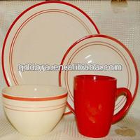 bright colored dinnerware,cream color dinnerware,solid mustard color dinnerware set