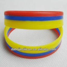 2014 World cup Columbia flag bracelet Columbia flag promotional gifts