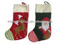 ( xs- 06ab) lovely reno& santa navidad de población/calcetín de navidad