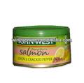 Alta qualidade conservas de salmões com limão& cracked pimenta