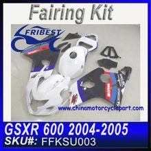 For SUZUKI GSXR 600 GSXR 750 K4 2004 2005 With Tank Cover Injection Mold fairing kit FFKSU003