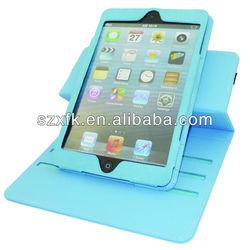 for ipad mini 360 degree rotating leather Pu case for ipad mini