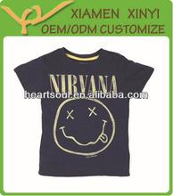 Custom fashion printed cotton kids t-shirt