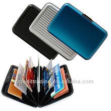 de aluminio de negocios de tarjeta de crédito titular de la cartera de la caja