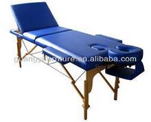 GuangYi 3-section wooden portable adjustable massage table-masa de masaj Mesa de masaxe