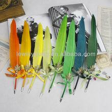 feather pen ,feather ball pen ,feather dip pen,pen feather