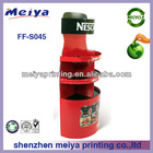 2014 special design cardboard nestle coffee promotion stand with high quality