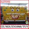 inflatable spongebob castle,inflatable spongebob face,cartoon inflatable castle