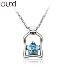 OUXI NEW Design wish bottle necklace made with Swarovski Elements OUXI 10859