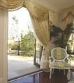 2014 branco elegante da cortina de organza de seda