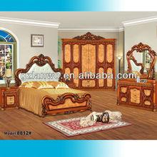 Hop sale king size bedroom set luxury Chinese bedroom furniture model 8812nice price