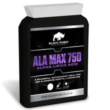 Black Rhino ALA Alpha Lipoic Acid 750mg Daily Gym Supplement