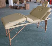 GuangYi 4-section wooden portable adjustable massage table-masa de masaj Mesa de masaxe
