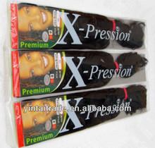 Kanekalon super jumbo braiding hair wholesale, 100% High Quality X-pression jumbo braid