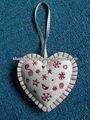 ( xd- 13) 2014 agradable- en busca de fieltro bordado de navidad en forma de corazón decoración del ornamento