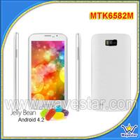 W500 5.0 inch Non Brand Smart Phone 5.0MP MTK6582M Quad-Core 512M/4G 2014 New