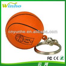 PU Foam squeeze ball reliever anti stress basketball keychain