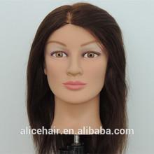 Factory sales cheap human hair female training mannequin head