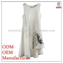 Nouveaux styles vente chaude sans manches à glissière métalliques avant mode lady chine vêtements marques