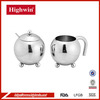 Sphere milk jug and sugar pot set with single wall stainless steel