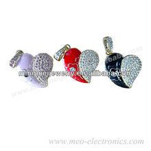 Promotional item 1gb heart shape usb flash drive