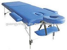 GuangYi 2-section aluminum portable adjustable massage table-masa de masaj tabl tylino