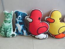 wholesale latest design animal body pillow case digital printing sofa decorative polyester cushion for kids animal body pillow