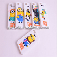 2014 hot selling despicable me silicone case for iphone 4 minions silicone case,yellow minion case for iphone 4g 4s ipod touch 4
